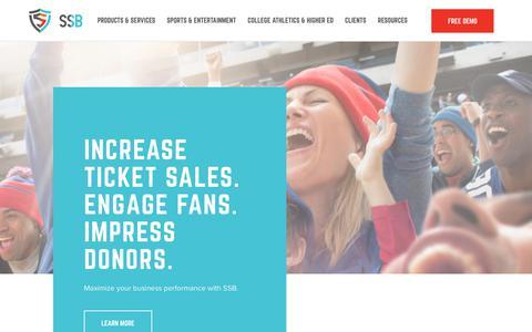 Screenshot of Home Page ssbinfo.com - Homepage | SSB - captured May 24, 2019