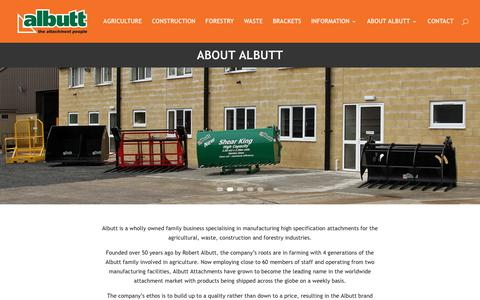 Screenshot of About Page albutt.com - About Albutt | Albutt attachments materials handling - captured Oct. 7, 2017