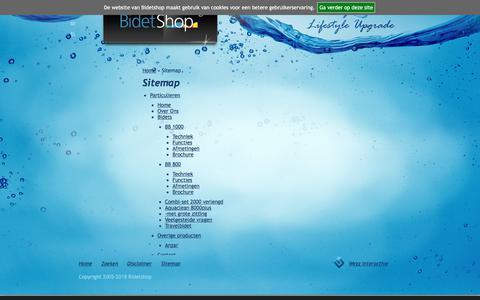Screenshot of Site Map Page bidetshop.nl - Sitemap | Bidetshop - captured Aug. 2, 2018