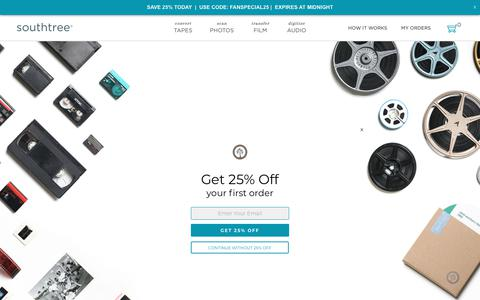 Screenshot of Pricing Page southtree.com - Southtree | Convert Home Movies to DVD - captured Oct. 21, 2018
