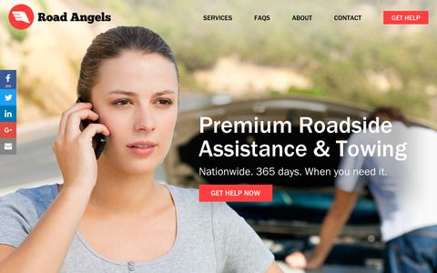 Screenshot of Home Page roadangels.com.au - Roadside assistance & car battery replacement on demand | Road Angels - captured Sept. 21, 2018