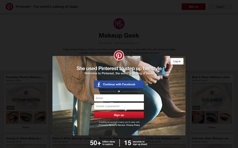 Screenshot of Pinterest Page pinterest.com - Makeup Geek on Pinterest - captured June 16, 2016