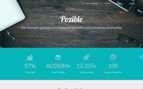 Screenshot of About Page pozible.com - Pozible - About - captured June 21, 2017