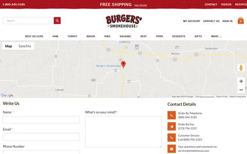 Screenshot of Contact Page smokehouse.com - Contact Us - captured Oct. 1, 2018