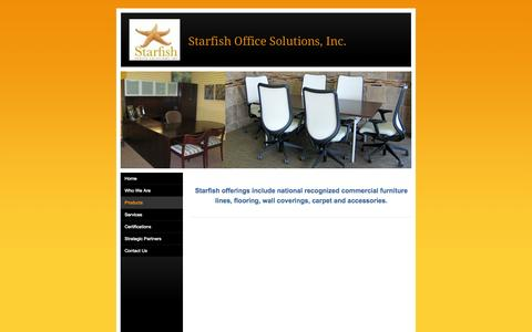 Screenshot of Products Page starfishofficesolutions.com - Products - Starfish Office Solutions, Inc. - captured Sept. 30, 2014
