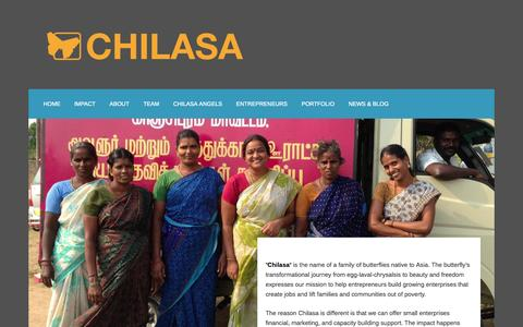 Screenshot of Home Page chilasa.org captured Oct. 2, 2014