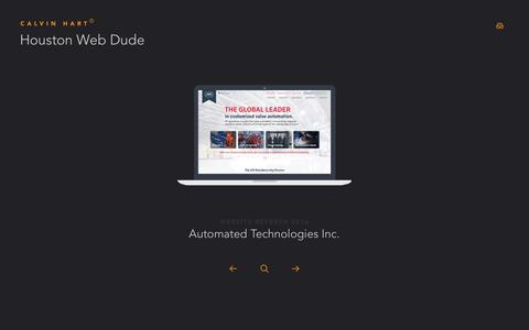 Screenshot of Home Page calvinhart.com - Houston Web Developer and Designer - captured Sept. 21, 2016