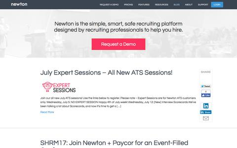 Recruiting Blog | Newton Software