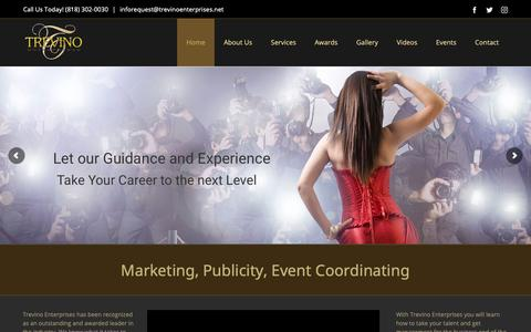 Screenshot of Home Page trevinoent.com - Home | Trevino Enterprises - Affordable Marketing Services Online - captured Oct. 20, 2018