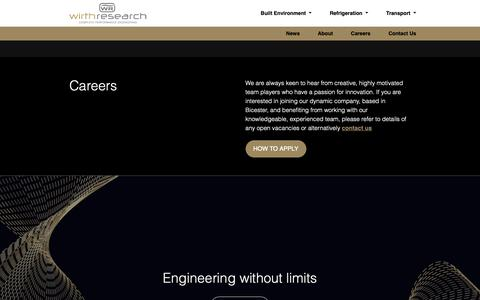 Screenshot of Jobs Page wirthresearch.com - Careers - Wirth Research - captured Dec. 11, 2018