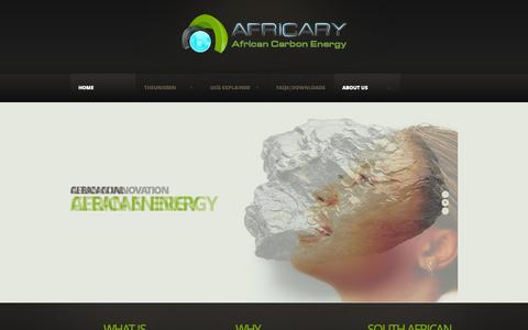 Screenshot of Home Page About Page africary.com - Africary - captured Oct. 4, 2014