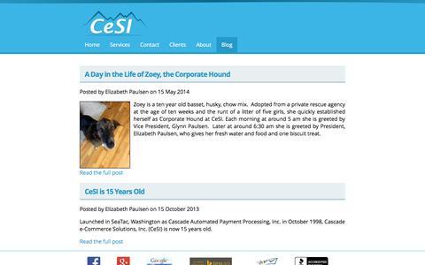 Screenshot of Blog 4cesi.com - Blog   Cascade e-Commerce Solutions, Inc. - captured Oct. 2, 2014