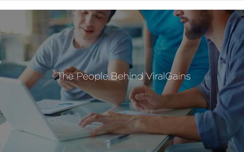 Screenshot of Team Page viralgains.com - Meet the Team - captured Oct. 21, 2015