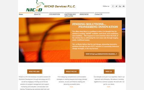Screenshot of Home Page nicad4change.com - NICaD - Home - captured Oct. 6, 2014