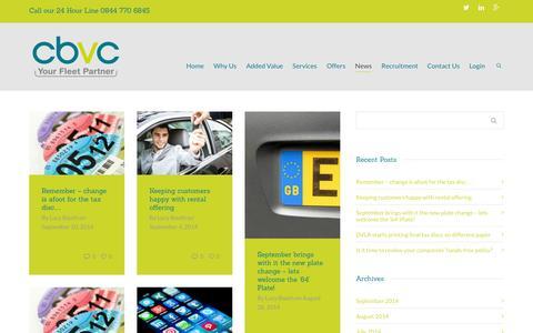 Screenshot of Press Page cbvc.co.uk - News   CBVC   CBVC Vehicle Management - captured Oct. 1, 2014