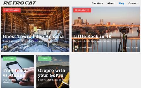 Screenshot of Blog retrocatmedia.com - Blog - captured Aug. 14, 2016