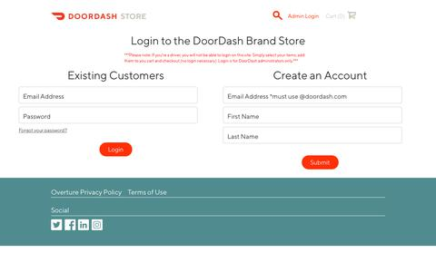 Screenshot of Login Page doordashstore.com - DoorDash : Log In - DoorDash - captured Nov. 3, 2018