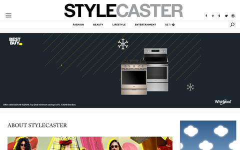 Screenshot of About Page stylecaster.com - About Us | StyleCaster - captured Nov. 7, 2018
