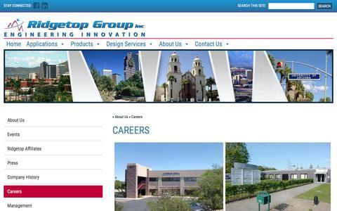 Screenshot of Jobs Page ridgetopgroup.com - Careers - Ridgetop Group - captured June 16, 2017