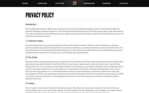 Privacy Policy | Brownstein Group