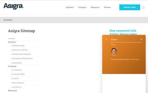 Sitemap | Asigra