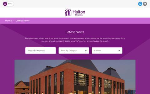 Screenshot of Press Page haltonhousing.org - Halton Housing News | Latest News & UpdatesHalton Housing - captured Dec. 14, 2018