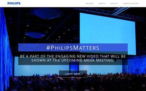 Screenshot of Home Page emakeupformacion.com - Philips Matters - captured Jan. 26, 2015