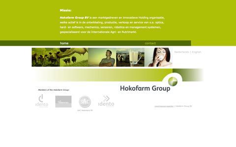 Screenshot of Home Page hokofarmgroup.com - Hokofarm Group - captured Oct. 3, 2014
