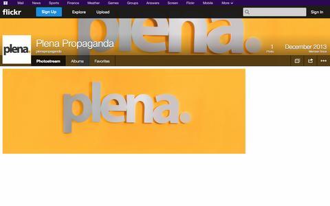 Screenshot of Flickr Page flickr.com - Flickr: plenapropaganda's Photostream - captured Oct. 23, 2014