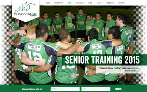 Screenshot of Home Page sunnybankrugby.com.au - Sunnybank Rugby Queensland | Australia - captured Jan. 26, 2015