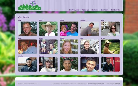 Screenshot of Team Page avantgardener.net - Avant Gardener  » Our Team - captured Sept. 30, 2014