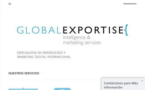 Screenshot of Home Page globalexportise.com - Exportación y Marketing Digital Internacional | Globalexportise - captured Nov. 9, 2016