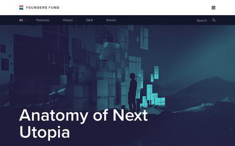 Screenshot of foundersfund.com - Founders Fund - captured Aug. 17, 2017