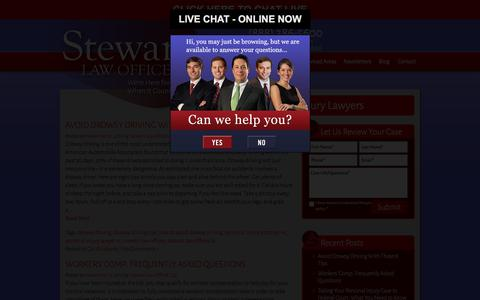 Screenshot of Blog stewartlawoffices.net - Blog for our Carolina Injury Lawyers « STEWART LAW OFFICES | Personal Injury Lawyer | Rock Hill, Beaufort | Columbia Auto Accident Lawyer – Spartanburg Accident Attorney - captured Dec. 2, 2016