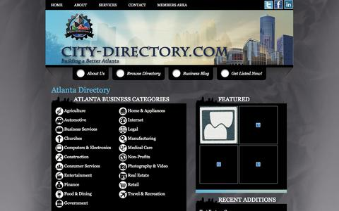 Screenshot of Home Page FAQ Page Site Map Page city-directory.com - City Directory | Home Page - captured Sept. 29, 2014