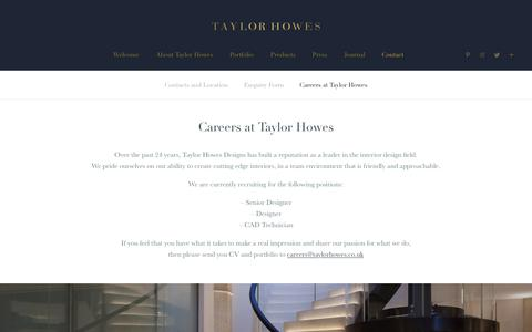 Screenshot of Jobs Page taylorhowes.co.uk - Careers | Taylor Howes - captured Nov. 17, 2018
