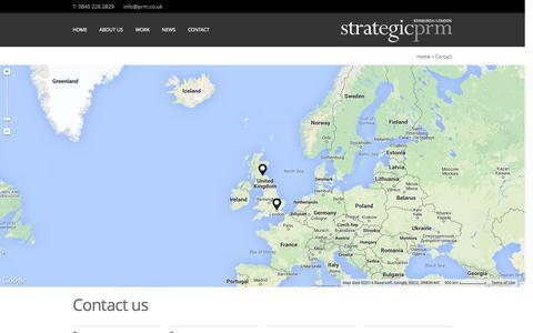 Screenshot of Contact Page corporateprm.co.uk - Contact / Locations   PRM - captured Oct. 28, 2014