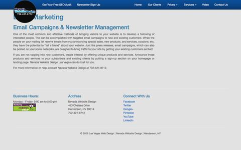 Email Marketing | Nevada Website Design Las Vegas NV | SEO