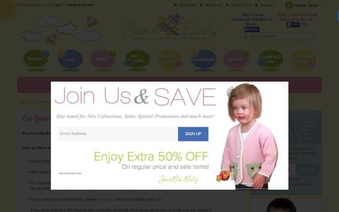 Screenshot of Support Page junebeebaby.com - Eco-friendly Baby Clothing - Customer Service - captured Feb. 11, 2016