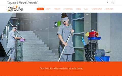 Screenshot of Home Page citrolife.com.au - CitroLife¨ organic and natural cleaning and sanitizing products - captured Dec. 9, 2015