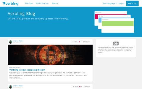 Screenshot of Blog verbling.com - Verbling Blog | Verbling - captured May 9, 2017