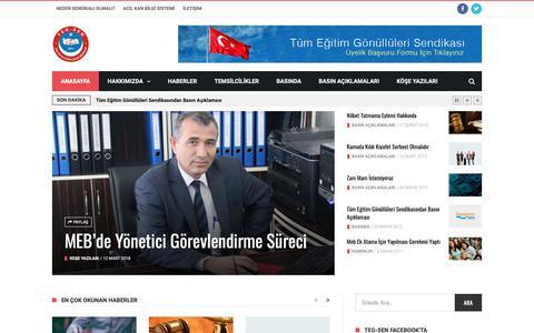 Screenshot of Home Page teg-sen.org.tr - Teg-sen – Tüm Eğitim Gönüllüleri Sendikası - captured Oct. 26, 2018