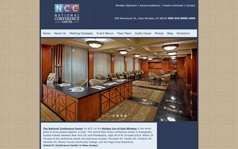 Screenshot of Home Page nccmeetings.com - The National Conference Center - captured Oct. 18, 2018