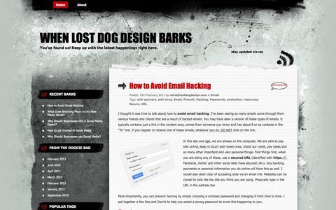 Screenshot of Blog lostdogdesign.com - When Lost Dog Design Barks - captured Sept. 30, 2014