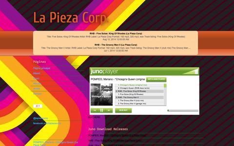 Screenshot of About Page lapiezacorp.blogspot.com - La Pieza Corp.: About - captured Sept. 27, 2014