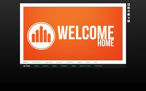 Screenshot of Home Page brownsvilleag.org - Brownsville Assembly of God / Welcome / Welcome - captured Oct. 5, 2014