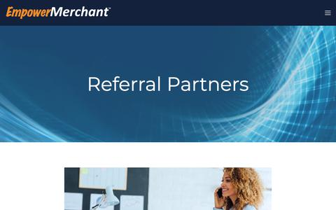 Screenshot of Signup Page empowermerchant.com - Referral Partners — Payment Solutions for Business Owners & Entrepreneurs - captured Sept. 25, 2018