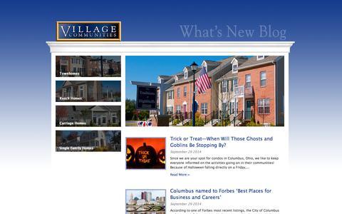 Screenshot of Blog villagecommunities.com - Village Communities Blog - captured Sept. 30, 2014