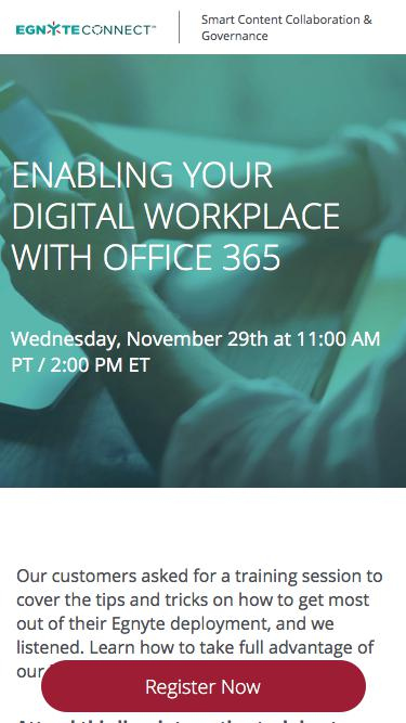 Egnyte Live Training | Office 365