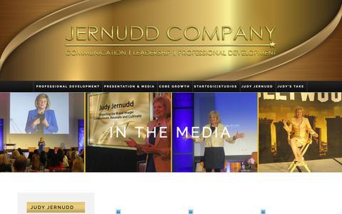 Screenshot of Press Page startegic.com - In The Media – The Jernudd Company - captured Nov. 18, 2018